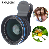 Zomei Aluminum Alloys Universal Clip 0 45X Wide Angel Lenses 10x Macro Mobile Phone Lens For