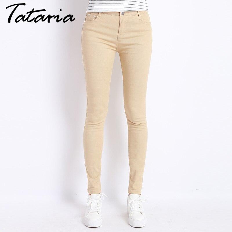 Jeans Femme Denim Pantalon De Couleur de Sucrerie Femmes Jeans Donna Stretch  Bas Feminino Skinny Pantalons Pour Femmes Pantalon 2018 Tataria dans Jeans  de ... 3c739074a18