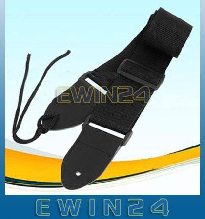 Черный нейлоновый ремень для акустической электрогитары Bass100% Высокое качество 1000 шт./лот