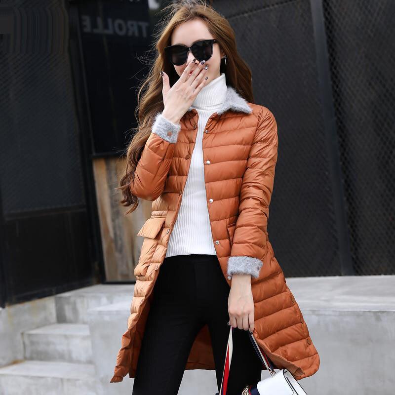 Mince Le Chaud Vestes Survêtement Vers Noir orange Lumière Bas Canard Parkas Veste Nouveaux rose Manteau Femme Femmes 2018 Blanc gris De Duvet Hiver Ultra FSzZq