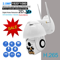 2.0MP 1080P Wifi IP Camera Outdoor Two Way Audio PTZ Night Vision IR 60M Wireless Security Speed Dome Camera P2P