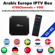 Arabic Nordic Swedish IPTV android 7.1 4k tv box X96 MINI tv box android IPTV Subscription 1 Year For xiaomi Smart ip tv box