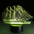 Creative 3D illusion Lamp LED Night Light 3D Acrylic Discoloration Colorful Gradient Atmosphere Lamp Novelty Lighting