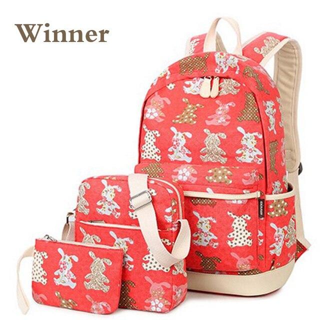 e45a1f64e8a7 New Brand Cute Rabbit Backpack Bag For Teenager Girl Women Notebooks  Uniform School Bag Mochil Portfolios