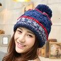 Sombreros de moda para las mujeres gorros de invierno los hombres del casquillo que hace punto de lana marca sombrero Plus velvet keep warm gorros gorro de algodón Informal tapas