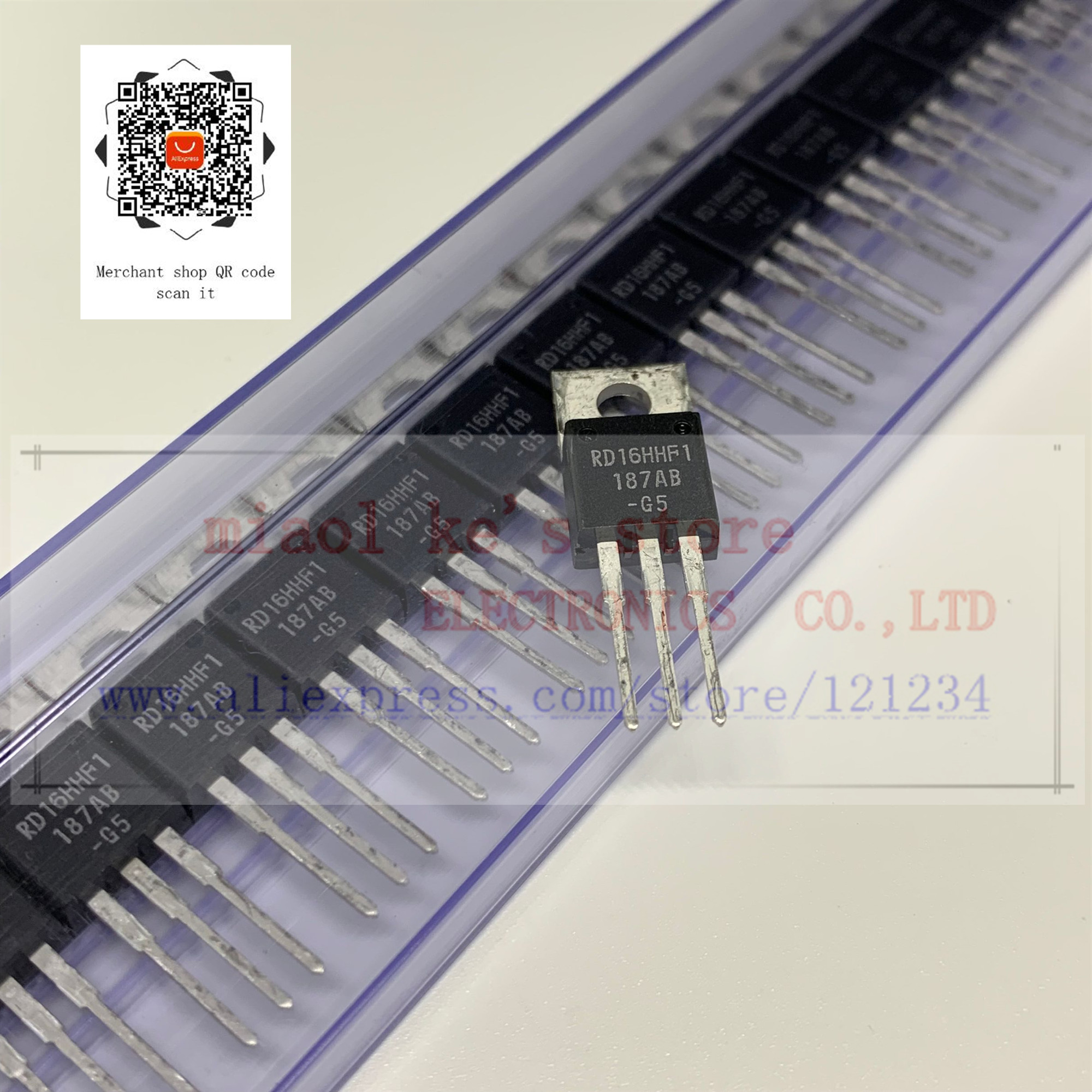 [5pcs/1lots]100%New Original; RD16HHF1 RD16HHF1-501 RD16HHF1-101 [MOSFET Transistor 30MHz,16W]Replaced 2SC3133 2SC1945 2SC1969