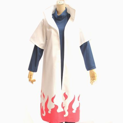 Anime Naruto Cosplay Costumes Fourth Hokage Namikaze Minato Cape Outfit Cosplay Cloak Uniform Wig Shoes Vest Headband