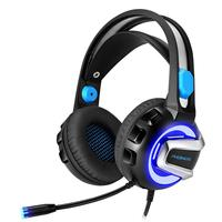 Headset Gaming Headphones Stereo Headphones with Microphone for PS4 Xbox One PC Mac with LED lights and soundproofing