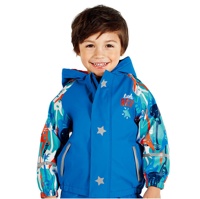 boys jacket girls fleece jacket for autumn winter , children outerwear windproof and waterproof , children's raincoat (PU)