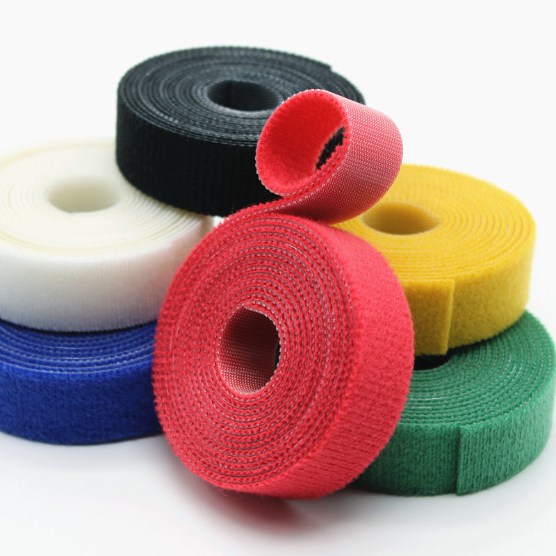 2yards/pack 10/20mm Nylon Sticker Adhesive Cable Hooks Loops Fastener Tape back to back self Sewing Home Office DIY Accessories