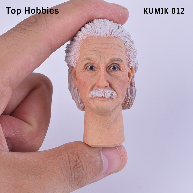 1:6 Scale KUMIK 012 Wisdom Master Einstein Male/Man head Sculpt Carving Fit 12 Hot Toys Phicen Action Figure Doll Toys 1 6 scale figure doll head shape for 12 action figure doll accessories breaking bad jesse pinkman figure male head carved