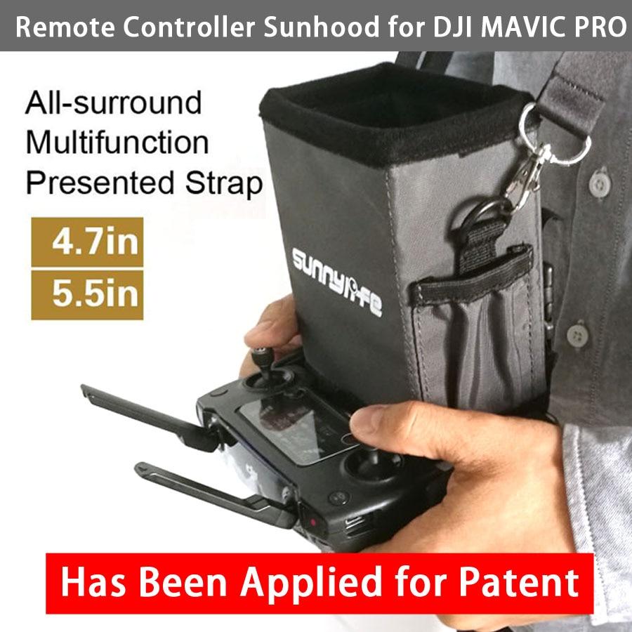 4.7in 5.5in fjärrkontroll Sunshade med Strap Sunhood - Kamera och foto