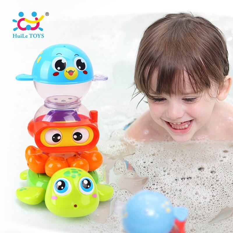 HUILE игрушки 3112 Детские игрушки ванны бассейн игрушки Животные укладки игры Для детей Ванна для купания распыления воды инструмент игрушки п...
