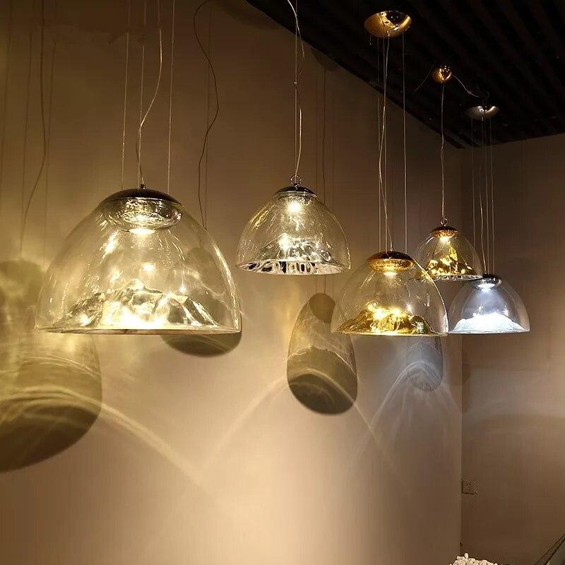 Luzes Pingente De Vidro Da Lâmpada moderna LEVOU E27 Pendurar Luminária Abajur de Vidro Da Lâmpada Pingente sótão Do Vintage lâmpada Luz Para Bar Restaurante