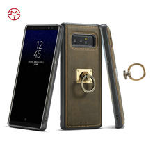 CaseMe Case For Samsung Galaxy Note 8 S8 Plus S7 Edge Luxury Retro Leather Phone Cases Magnetic Kickstand Cover Back Case Ring(China)