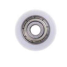 10 шт. карбоновый стальной подшипник шкив колеса встроенный паз подходит для мебельных аксессуаров 5*21,5*7 мм