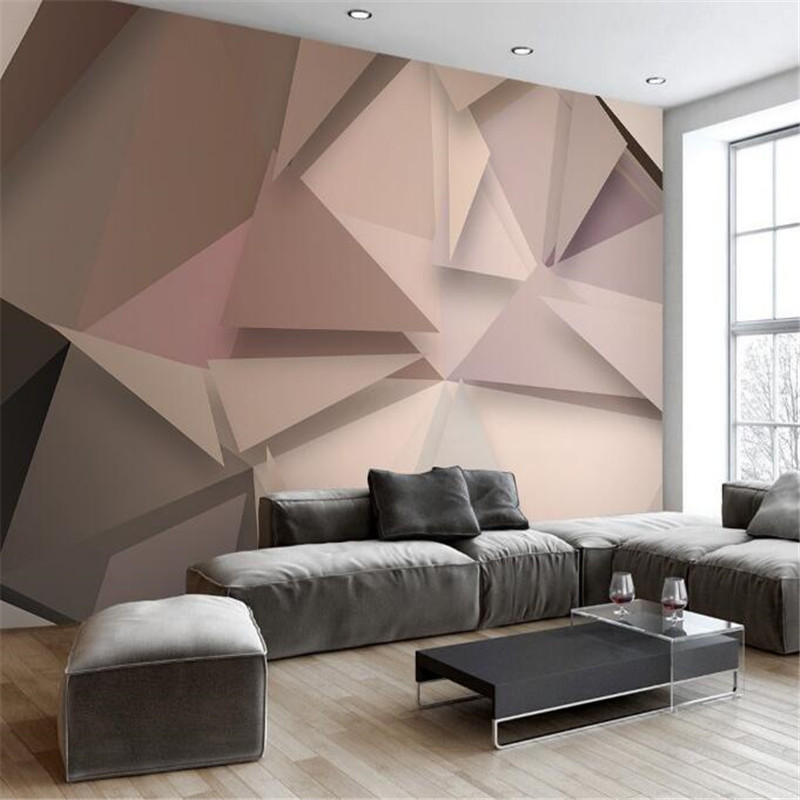 custom 3d photo modern simple polygon non-woven mural wallpaper 3d fashion TV sofa background wall home decor for bedding room 3d wallpaper custom hd photo non woven mural wallpaper hotel colorful club ktv background home decor 3d wall mural wallpapers