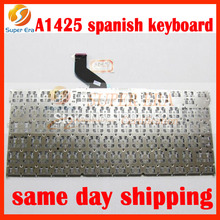"""5pcs/lot original for macbook pro 13"""" retina A1425 SP Spain Spanish keyboard without backlight backlit late 2012 early 2013year"""