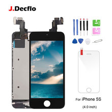 For iPhone 5s LCD Display Touch Screen Digitizer+Home Button+Front Camera+Earpiece Full Set Assembled with Gifts AAA+ Quality