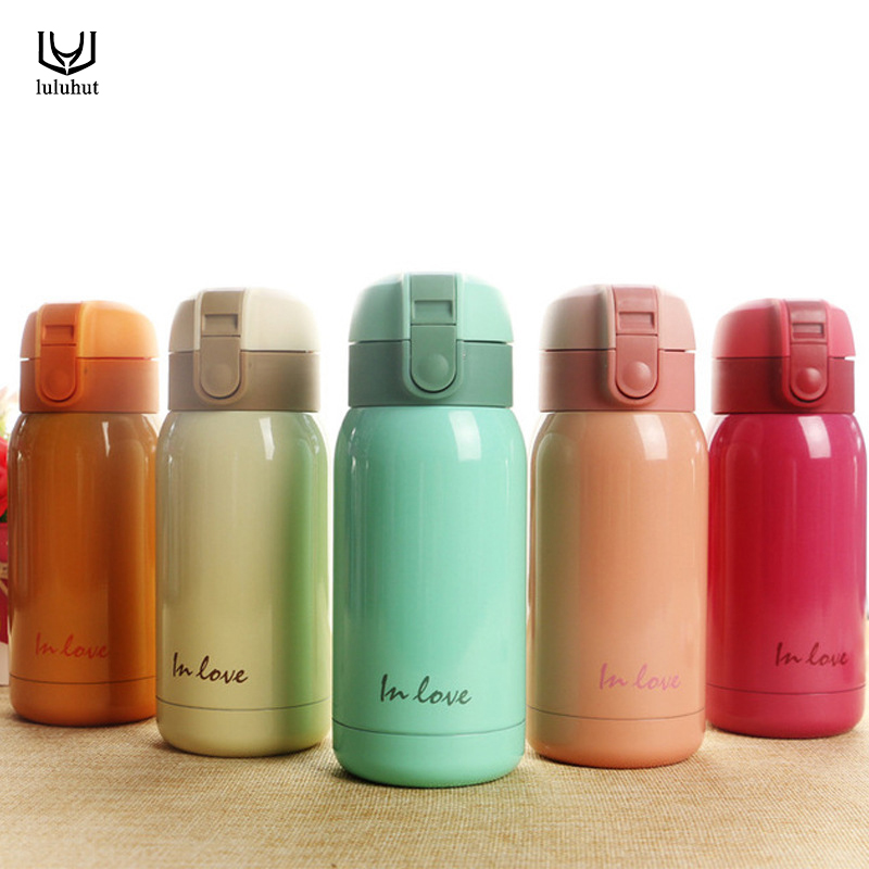 High Quality Mini Water Bottle Bounce Cap Thermos Cup Fashion Stainless Steel Student Vacuum Cup Flask Small Cute Insulation Cup Термос