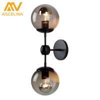 Nordic American Retro Study The Living Room Ceiling Hanging Wall Lamp Beanstalk Bed Loft Black Iron