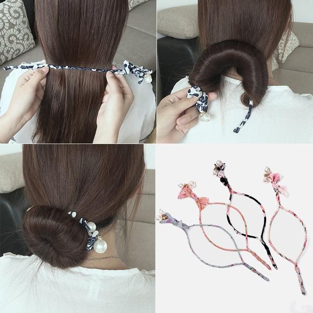 M MISM Woman Donuts Bud Head Band Ball French Twist Magic DIY Tool Hair Bun Maker Sweet Dish Made Hair Band Hair Accessories