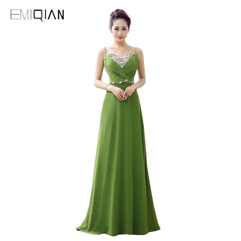 Vestidos color verde olivo