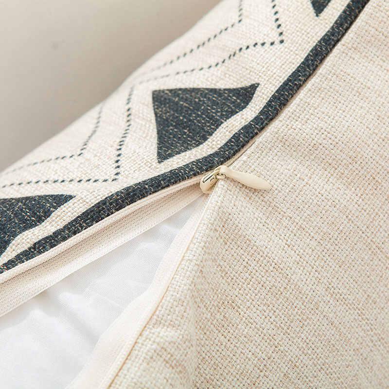Саттва бохо хлопок чехол на подушку квадратныйдекоративный крем белый бахромой кистями