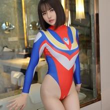 Swimwear Monokini Thong Sukumizu Open-Crotch Cosplay One-Piece Sexy Women Padded Female