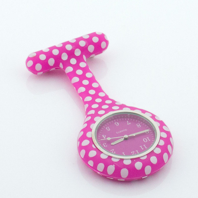 dots silicone nurse watch fob pocket watch doctor nurse gift colored dial Japane