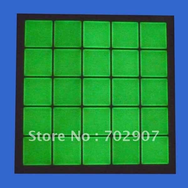 """2000 шт/Партия """" квадратная прозрачная эпоксидная наклейка светящаяся в темноте с зеленым светом для изготовления ювелирных изделий"""