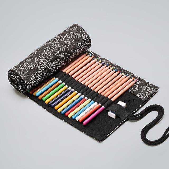 Kawaii Canvas Roll Pencil Case