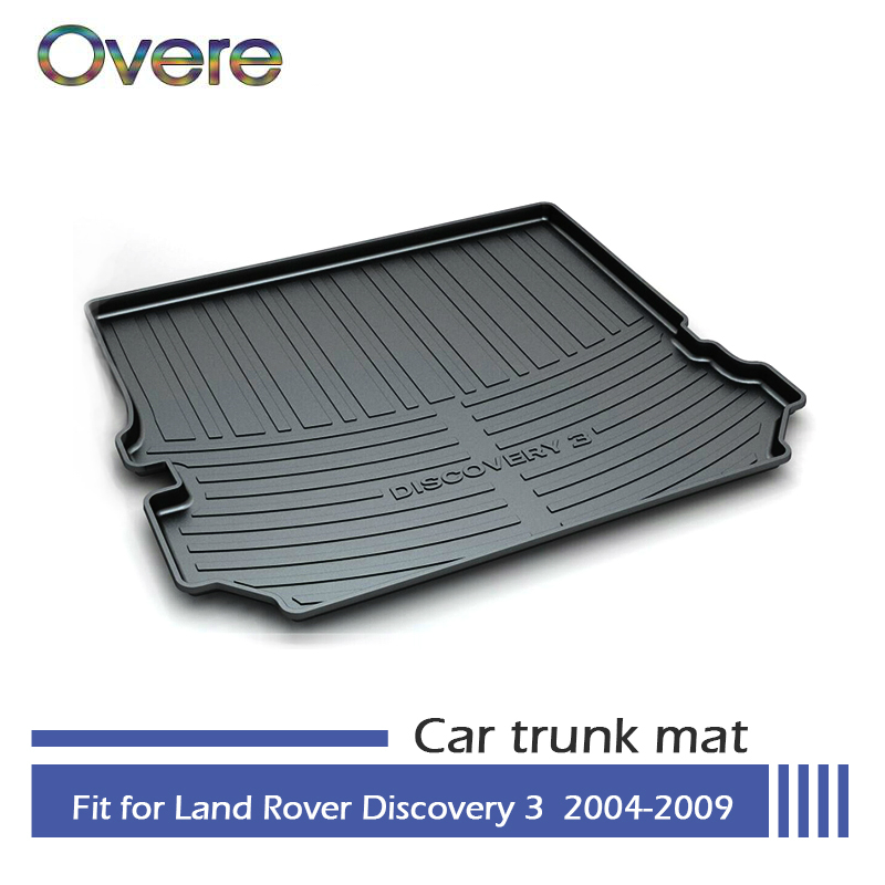 Overe 1Set Car Cargo rear trunk mat For Land Rover LR3 Discovery 3 2004 2005 2006 2007 2008 2009 Styling Boot Liner Accessories front right car fog light lr for land rover discovery 2 2003 2004 range rover 2006 2009 range rover sport lr3 2005 2009