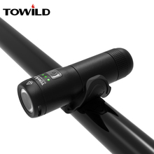 TOWILD Rechargeable Bike Front Handlebar Cycling Led Light Replaceable Battery Flashlight Torch Headlight Bicycle Accessories