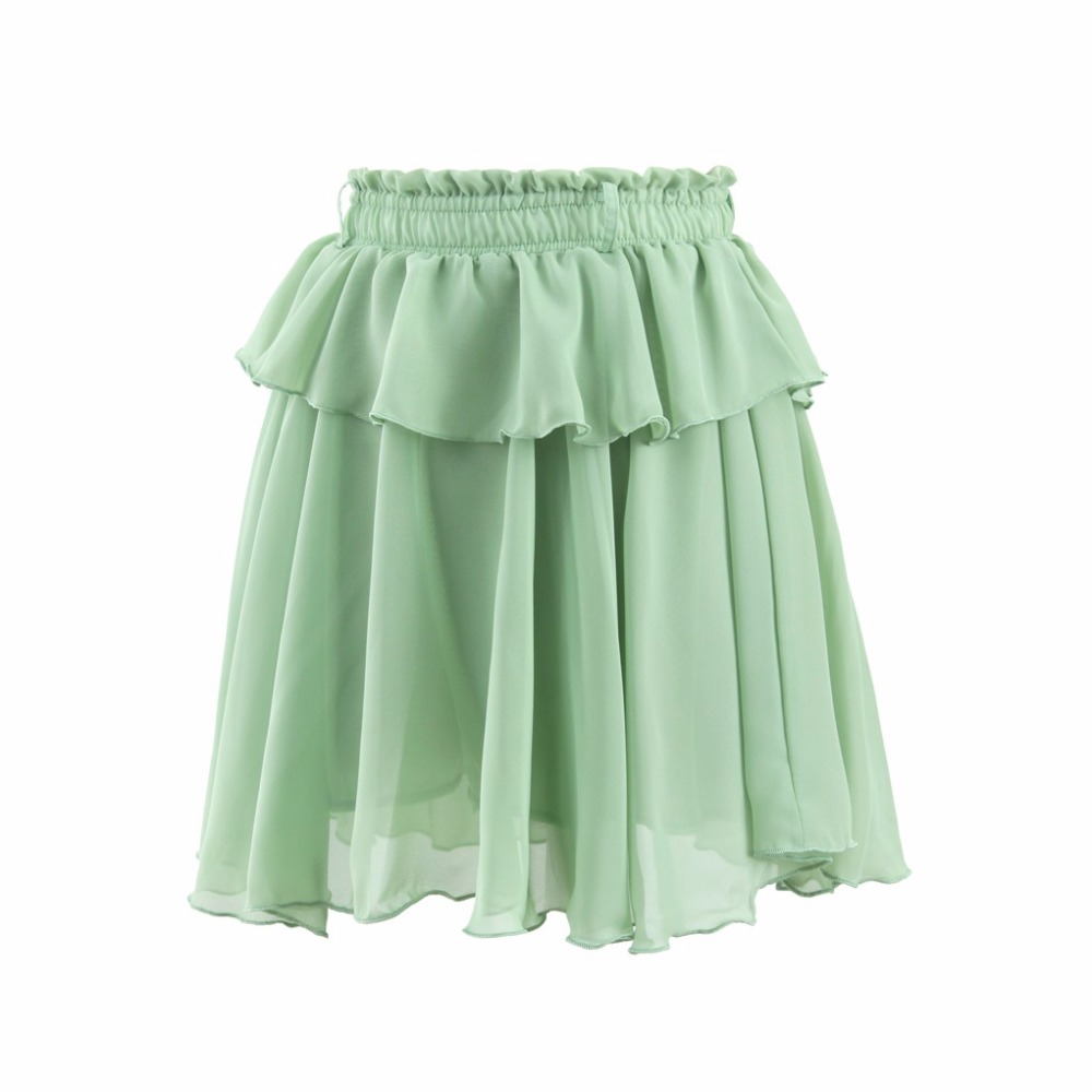 2016 summer style casual skirts elastic waistline a