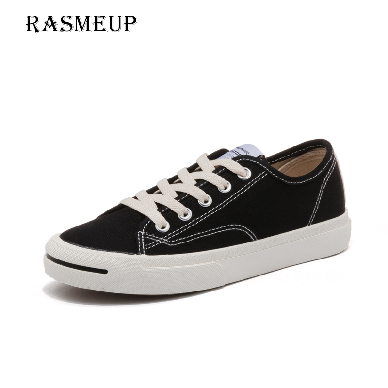RASMEUP Women's Canvas Sneakers 2018 Fashion Lace Up Women