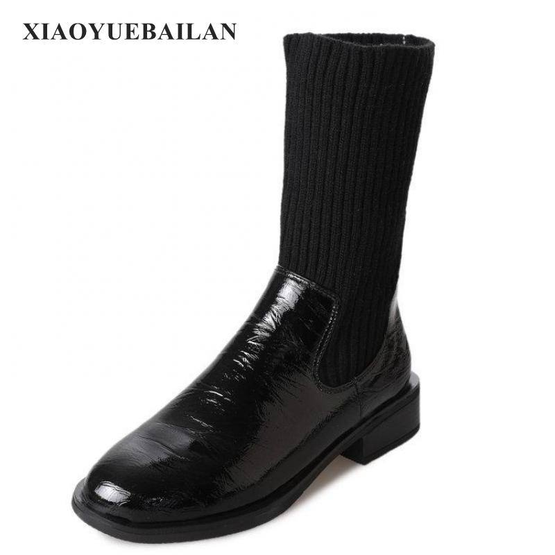 In 2018 The New Short Tube Thick With Warm And Comfortable All-match High-end Shoes Fashion Boots