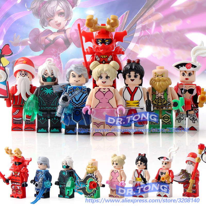 DR.TONG GJ640 80pcs King of Glory One of China Romance of the Three Kingdoms Building Blocks Figures Educational Toys gifts 60 volumes china comic strip books romance of the three kingdoms chinese ed