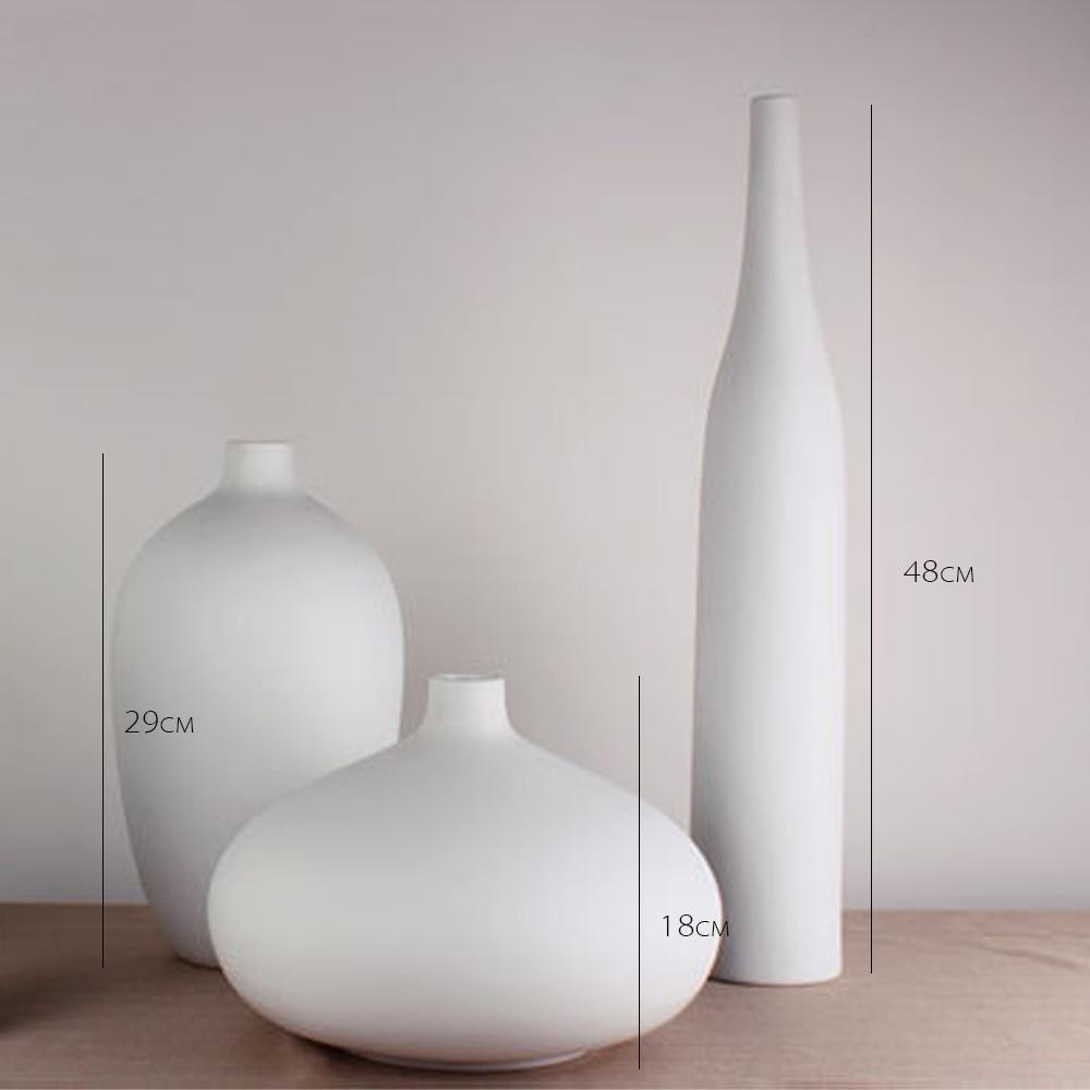 2 new white round vase home idea creative handmade belly shape porcelain flower vase round style reviewsmspy