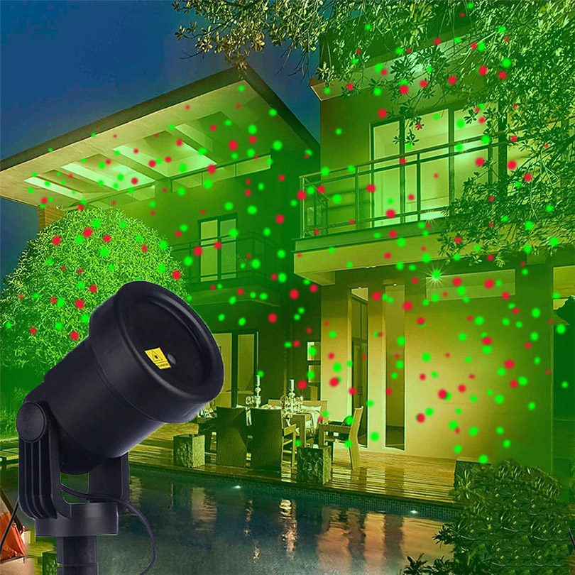 Outdoor Moving Red&Green Full Sky Star Laser Projector Lamp Christmas LED Stage Light Landscape Lawn Garden Projector Light beiaidi sky star outdoor christmas laser projector green red laser spotlight lamp landscape garden christmas stage light