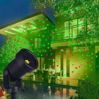 Outdoor Moving Red&Green Full Sky Star Laser Projector Lamp Christmas LED Stage Light Landscape Lawn Garden Projector Light