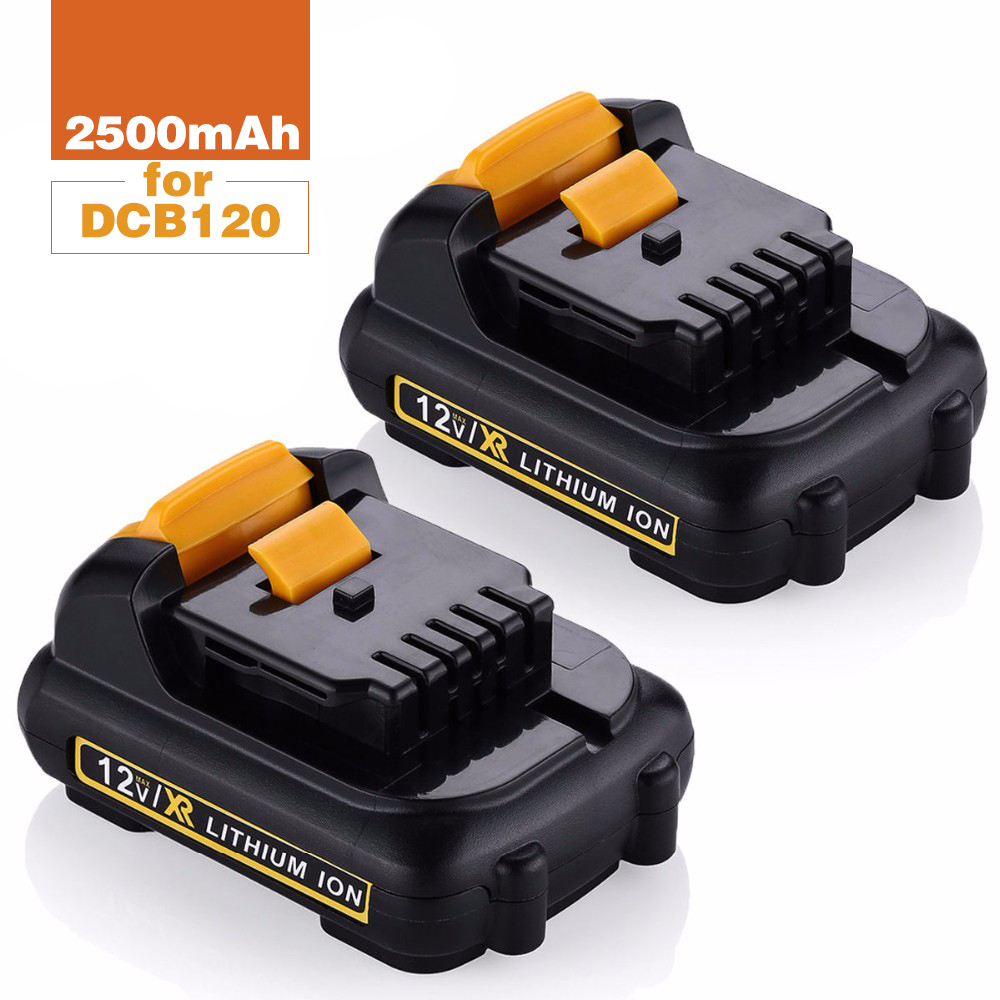 QTY 2X 12v 2.5 Ah Lithim-Ion Replacement Rechargeable Battery for Dewalt power tools Max DCB120 DCB121 DCB127 FREE Postage  цены