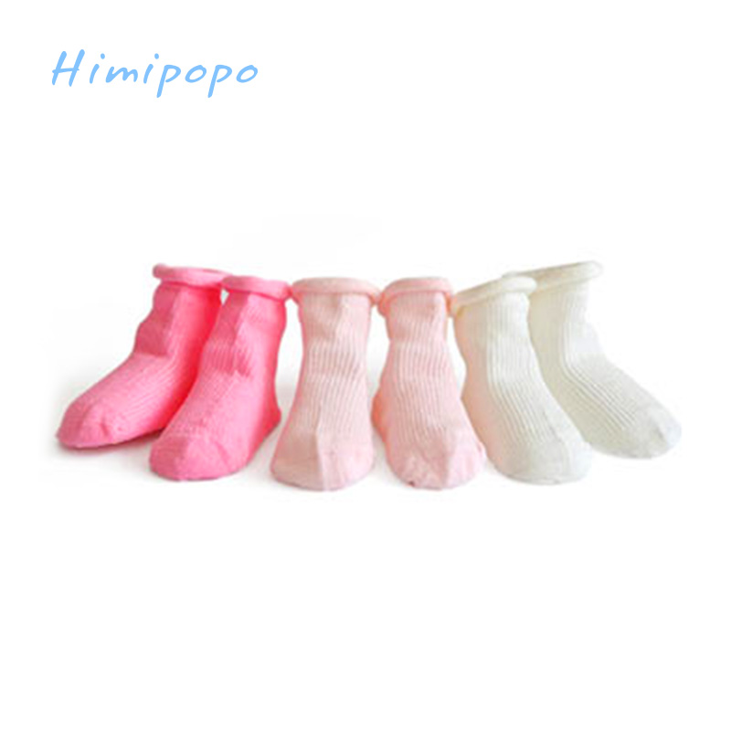 HIMIPOPO Pure Cotton Baby Socks Newborn Baby Boys Girls Toddler Spring Autumn Socks for Babies 3PCS