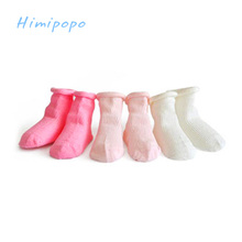HIMIPOPO Pure Cotton Baby Socks Newborn Baby Boys Girls Toddler Spring Autumn Socks for Babies 3PCS/LOT