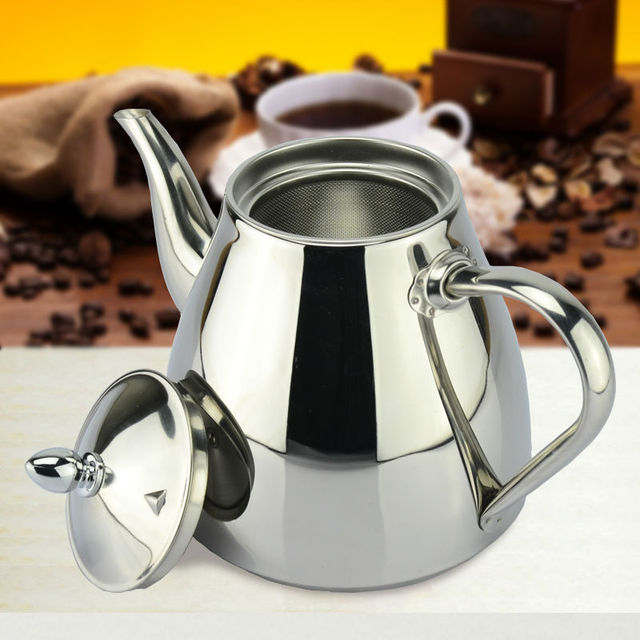 new style stainless steel Tea pot and Coffee Drip Kettle pot teapot with strainer stainless steel Kettle hot water for Barista
