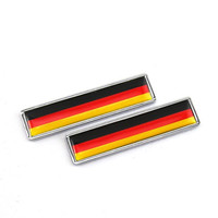 2 Stainless Metal Sticker Germany Flag Of German Emblem For Hond A Gold Wing