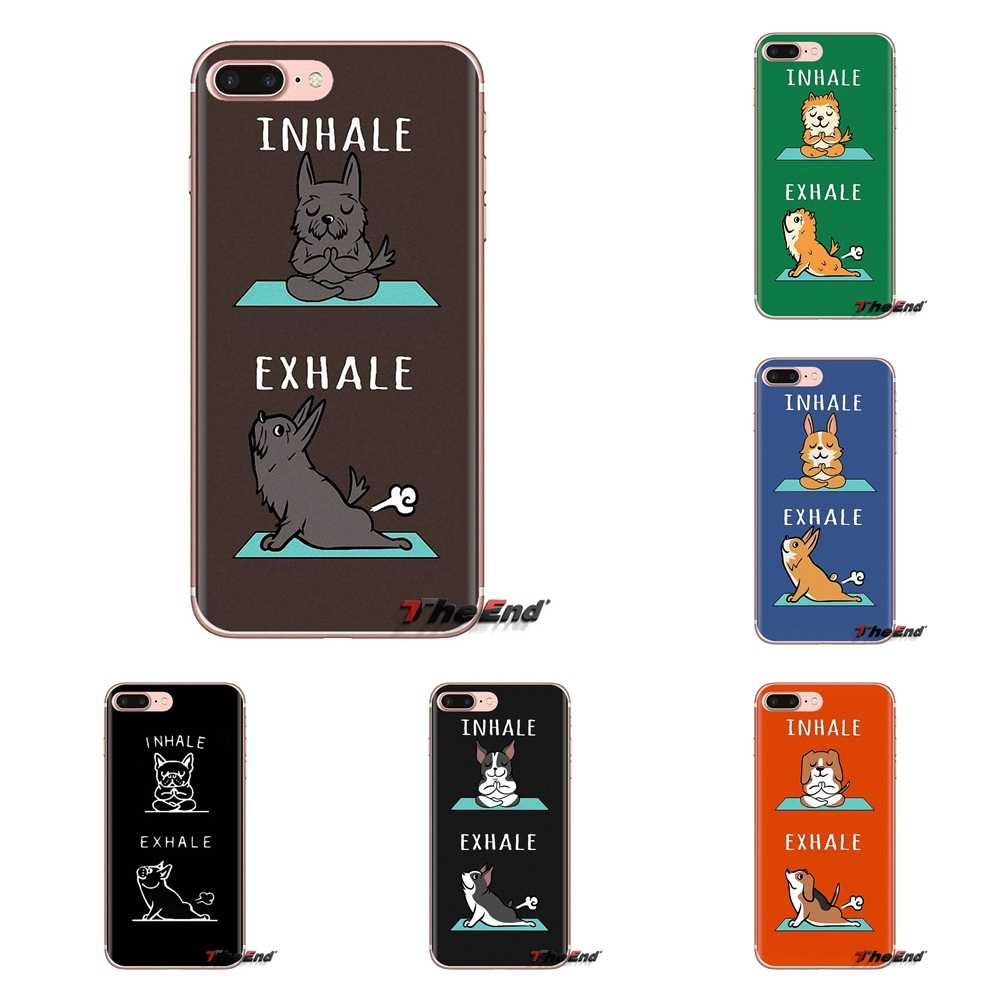 Cute French Bulldog Menghirup Napas untuk Xiaomi Mi3 Samsung A10 A30 A40 A50 A60 A70 Galaxy S2 Note 2 Grand core Prime Phone Housing