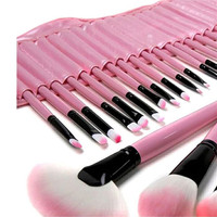 32 24Pcs Makeup Brushes Professional Cosmetic Make Up Brush Set High Quality Wood Make Tool Powder