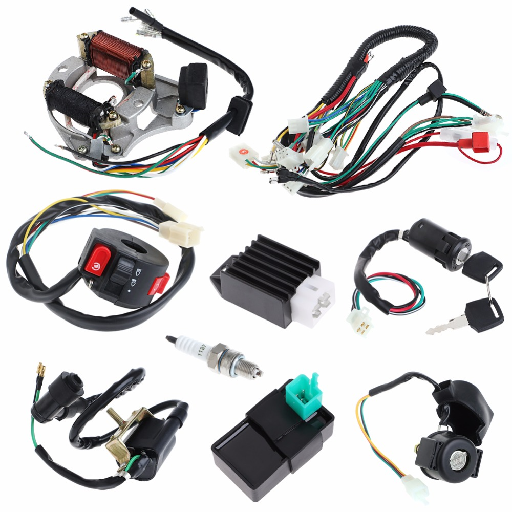 50  70  90  110cc Cdi Wire Harness Assembly Wiring Set Atv