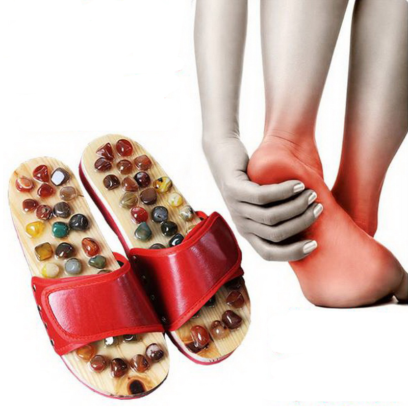 170615/Pebbles massage slippers / acupuncture points foot foot massage shoes / men and women couples home summer cool slippers